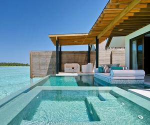 house, luxury, and Maldives image