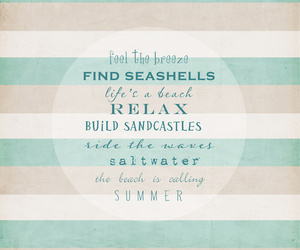 beach, ocean, and typography image
