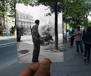 paris, second world war, and photographs image