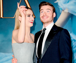 cinderella, richard madden, and lily james image