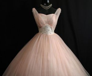 beaded, dress, and pink image