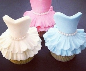 cupcake, dress, and food image