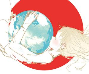 anime girl, draw, and world image