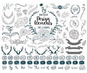 banner, doodle, and floral image