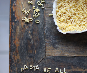 pasta, food, and love image