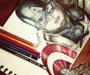 drawing and capitanamerica image