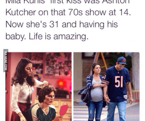 ashton kutcher, Mila Kunis, and love image