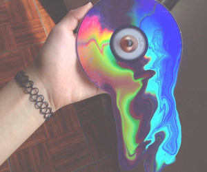 grunge, cd, and rainbow image