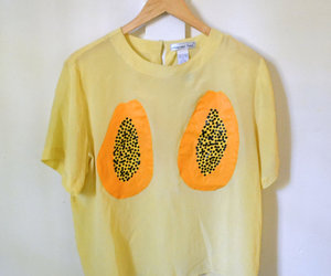 shirt, yellow, and fashion image