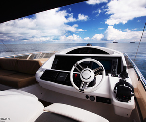 boat, water, and luxe image