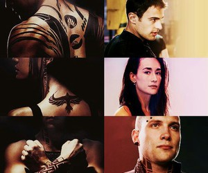 divergent, theo james, and tattoo image