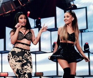 ariana grande, nicki minaj, and bang bang image