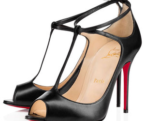 chic, red sole pumps, and red bottom sandals image