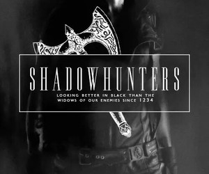 shadowhunters, the mortal instruments, and black image