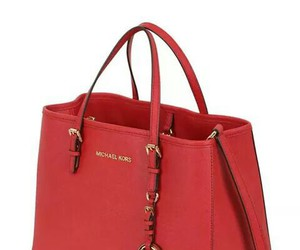 bag, red, and shopping image