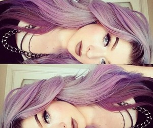beauty, eyeliner, and purple image