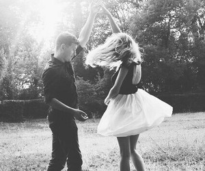 love, couple, and dance image