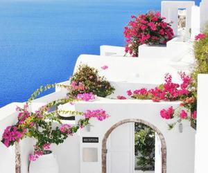 summer, Greece, and sea image