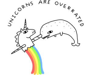 funny, narwhal, and unicorn image