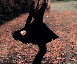 black, autumn, and dress image