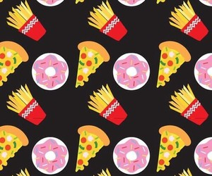 food, pizza, and wallpaper image