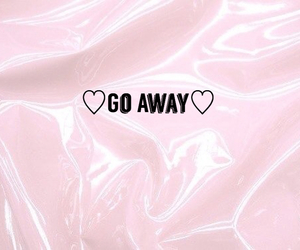 colors, go away, and hearts image
