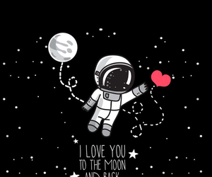 wallpaper, moon, and love image