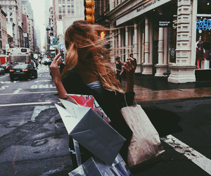 shopping, girl, and city image