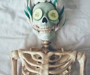 skeleton, funny, and beauty image