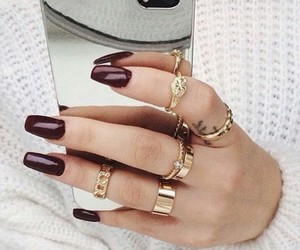 knit sweater, finger tattoo, and white sweater image