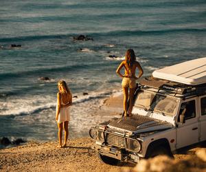 beach, summer, and brunette image