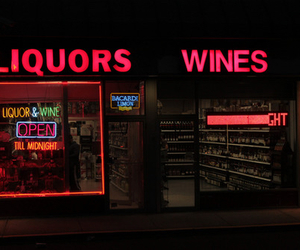 neon, glow, and red image