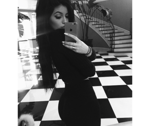 kylie jenner, black and white, and jenner image