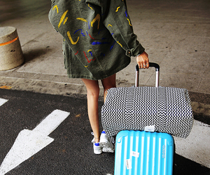 airport, asian fashion, and fashion image