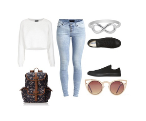 casual, Polyvore, and converse image