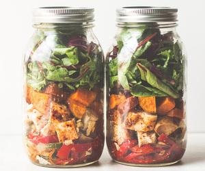 Chicken, salad, and fajita image