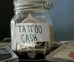 tattoo, cash, and money image