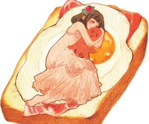 egg, girl, and art image