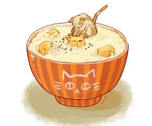animation, food, and kawaii image