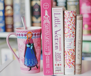 book, pink, and frozen image