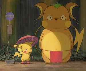 pikachu, pokemon, and totoro image