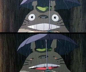 totoro, rain, and studio ghibli image