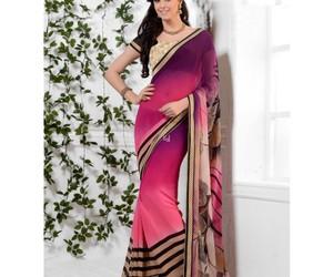 fashion, women clothing, and saree image