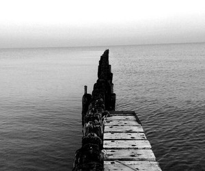 sea, water, and wood image
