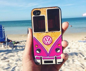 beach, iphone, and case image