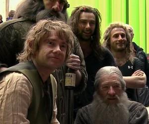 the hobbit, bilbo, and gandalf image