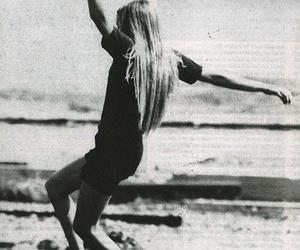 girl, skate, and black and white image