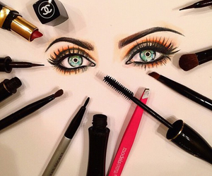 makeup, eyes, and art image