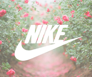 nike, pink, and background image