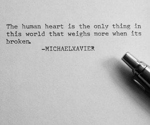 quote, broken, and heart image